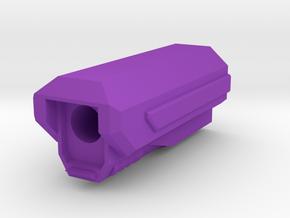 Pistol SciFi Airsoft Muzzle Compensator (14mm Self in Purple Processed Versatile Plastic