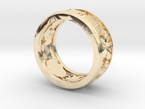 Crest Ring V11 in 14K Yellow Gold