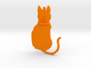 Cat Pendant in Orange Strong & Flexible Polished