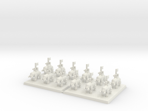 3mm DBA Elephants 40x40mm (x2) in White Natural Versatile Plastic