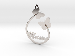 Mama Pendant Butterfly butterflies silver gold nec in Platinum