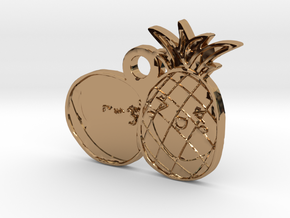 Fruits Love Pedant in Polished Brass