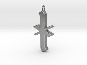Rune Pendant - Īor in Natural Silver
