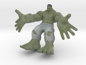 Hulk figure with nice details in Full Color Sandstone