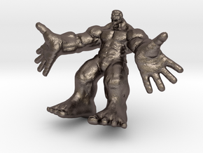 Hulk figure with nice details in Polished Bronzed Silver Steel
