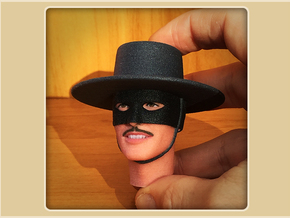1:6 Scale Zorro Head in Full Color Sandstone