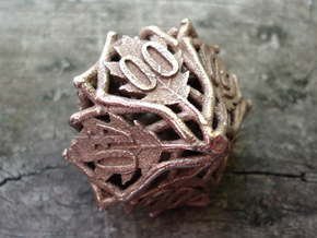 Botanical Decader d10 (Oak) in Polished Bronzed Silver Steel