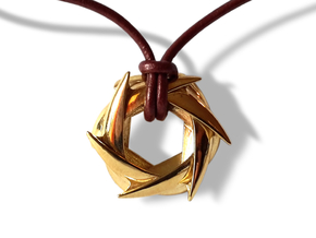 COROLLA pendant in Polished Brass