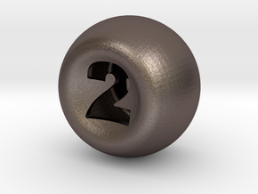 D2 in Polished Bronzed Silver Steel