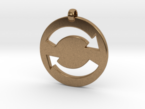 Refresh Sign Pendant, 3mm thick. in Natural Brass
