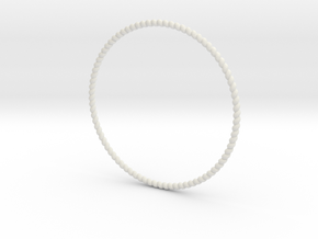 TinyTwist Bangle Bracelet MEDIUM in White Natural Versatile Plastic