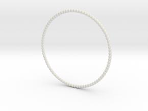 TinyTwist Bangle Bracelet MEDIUM in White Natural Versatile Plastic