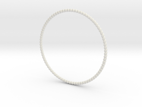 TinyTwist Bangle Bracelet SMALL in White Natural Versatile Plastic