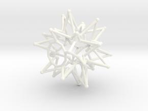 Tessa Star Core - Open Bottom - 5cm in White Processed Versatile Plastic