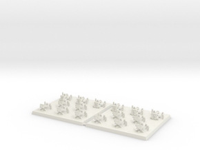 3mm DBA Artillery Based 40x40mm (x2) in White Natural Versatile Plastic