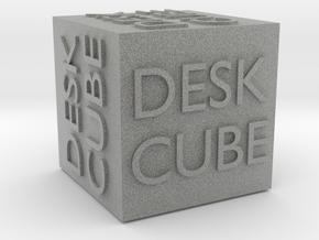 """""""Desk Cube"""" Cube in Metallic Plastic"""