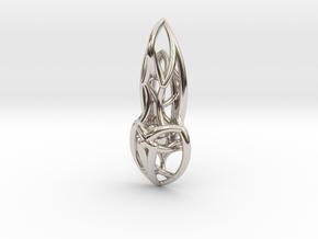 Flow Pendant in Platinum
