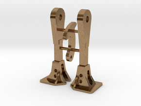 1:48 Nzr Coupler - Square 2 Incl Hook in Natural Brass