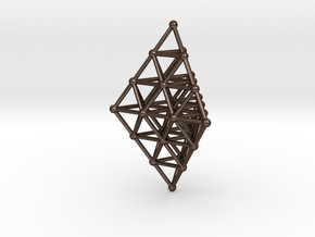 Pyramid Pendant in Polished Bronze Steel