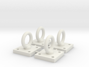 1:6 Scale Loop Bracket 004 in White Strong & Flexible