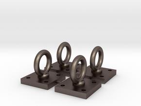 1:6 Scale Loop Bracket 004 in Polished Bronzed Silver Steel