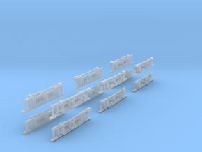 1-160 Panchorga Fake Bogies X2 Sets in Smooth Fine Detail Plastic