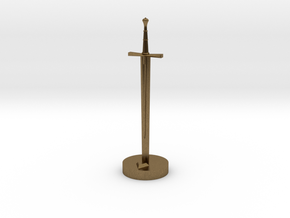 Role Playing Counter: Longsword in Natural Bronze