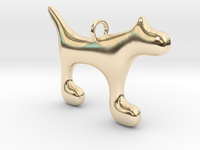 Dog1 in 14K Yellow Gold