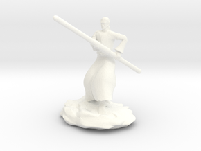 D&D Githzerai or Githyanki Monk Mini in White Processed Versatile Plastic
