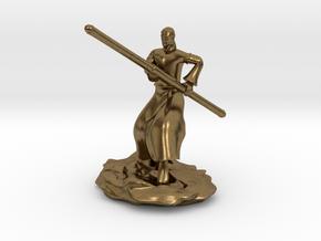 D&D Githzerai or Githyanki Monk Mini in Natural Bronze