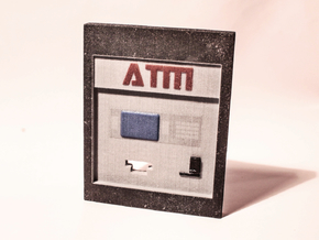 """Contemporary ATM for 7"""" Figures in Full Color Sandstone"""