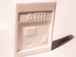 "Contemporary ATM for 7"" Figures in White Natural Versatile Plastic"