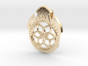 Seed Of Life Pendant in 14K Yellow Gold