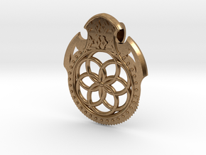 Seed Of Life Pendant in Natural Brass
