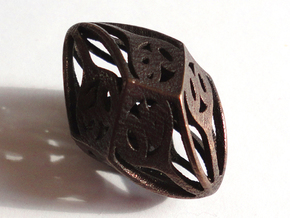 Twisty Spindle Die10 Decader in Polished Bronze Steel