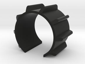 Emitter Fins component 32mm long - MHS Compatible in Black Natural Versatile Plastic