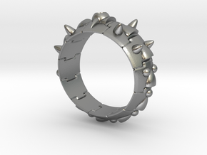 Armor Ring 01 (with stone hole) US13.5 in Natural Silver