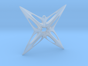 Star Pendant in Smooth Fine Detail Plastic