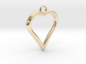 Heart 001 in 14K Yellow Gold