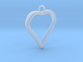 Heart 001 in Smooth Fine Detail Plastic