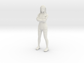 Female in shorts and tshirt 1/29 scale in White Natural Versatile Plastic