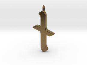 Rune Pendant - Nȳd in Natural Bronze