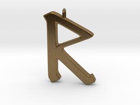 Rune Pendant - Rād in Natural Bronze