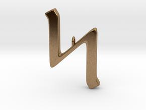 Rune Pendant - Sigel in Natural Brass