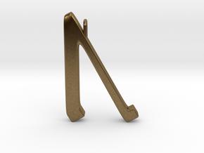 Rune Pendant - Ūr in Natural Bronze