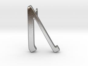 Rune Pendant - Ūr in Natural Silver