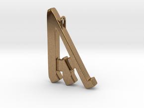 Rune Pendant - Ȳr in Natural Brass