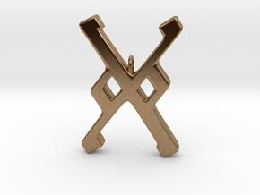 Rune Pendant - Gār in Natural Brass
