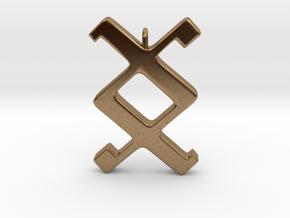 Rune Pendant - Ing in Natural Brass