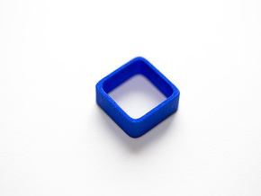 Poly4 Ring in Blue Processed Versatile Plastic: 6 / 51.5
